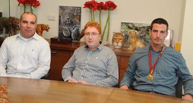 מימין: רמי וכנר, דימטרי גייזרסקי וזאב חזן - PerformIT