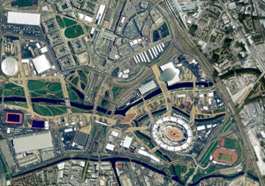 מבט נוסף על האולימפיאדה. צילום: מתוך Google Earth