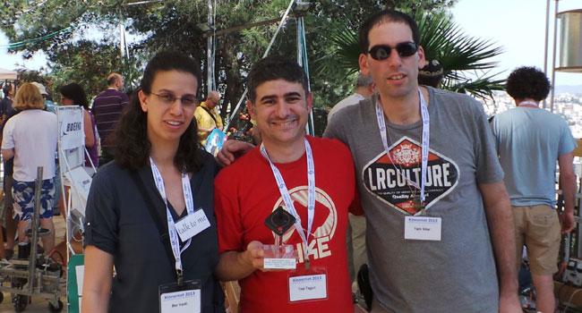 """מימין: יריב ענבר, מנכ""""ל מדיאטק היי-טק; יוסי תגורי, מייסד שותף ומנכ""""ל חבר ב-LABGOO; ומור ורדי"""