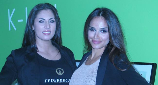 סונה חרירי הלבנונית (משמאל), מנהלת סוכנות PR גרמנית שנטלה חלק באירוע, ביחד עם נציגת חברת היעוץ הגרמנית NGN