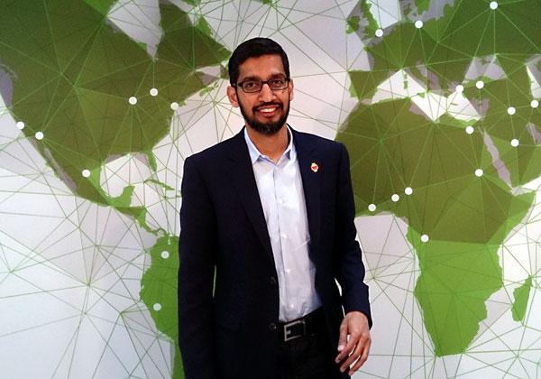 """סונדאר פיצ'אי, מנכ""""ל גוגל. צילום: מאוריציו פסקה, מתוך ויקיפדיה"""