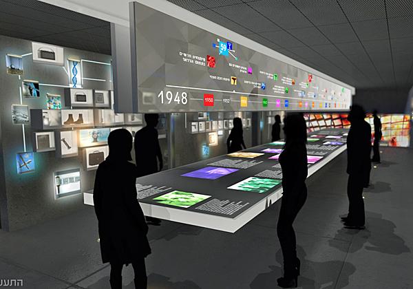 קומת ההיסטוריה במרכז החדשנות. עיבוד מחשב