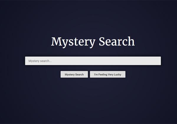 ממש לא גוגל, אף על פי שתודו שמזכיר קצת. Mystery Search. צילום מסך