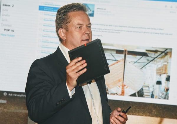 "כריסטיאן טייסמן, סגן נשיא בכיר ומנכ""ל מגזר העסקים המסחריים, PCSD. צילום: פלי הנמר"