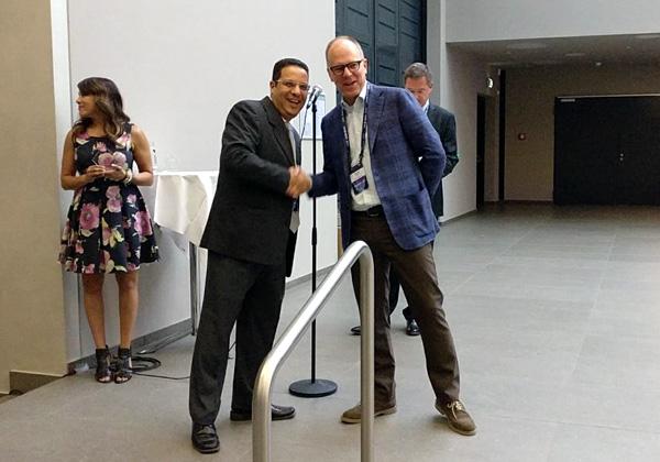 """שי גנות, מנהל אגף Business processes בקבוצת יעל, ומארי ד. דוד, מנכ""""ל טיבקו. צילום: יח""""צ"""