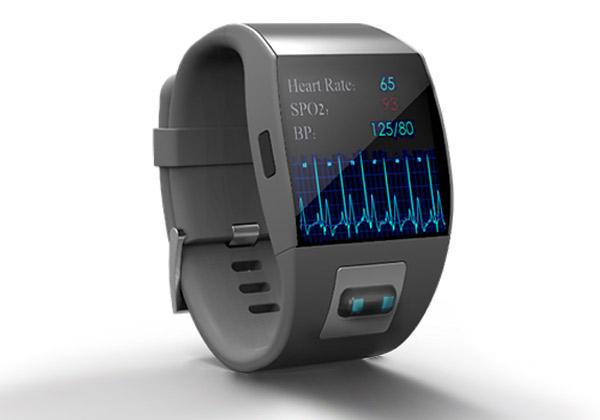 שעון ניטור מדדי גוף רפואיים של קרדיאק סנס. צילום: אתר החברה