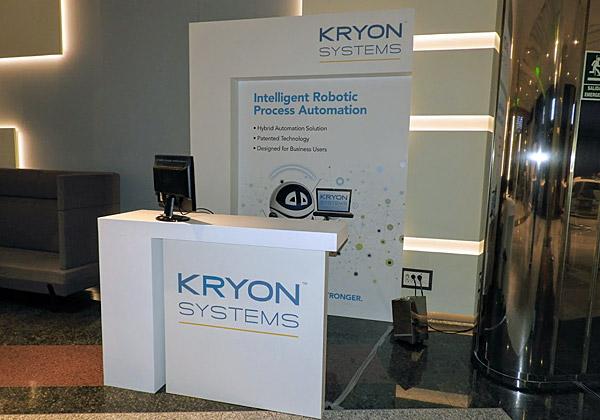 ביתנה של Kryon הישראלית, שהציגה בכנס את פתרון הרובוט (תוכנה) לניהול תהליכים אוטומטי ואינטליגנטי. צילום: פלי הנמר