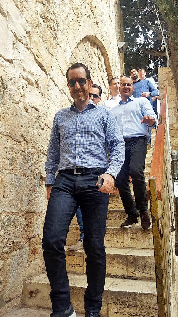 יורדים בירושלים. צילום: אפרת בן הרוש