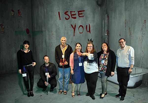"""אירוע מסור: מימין: אילנה טל, רחל אלבז, טלי בר ודורית מאור מתים נטקום. צילום: יח""""צ"""