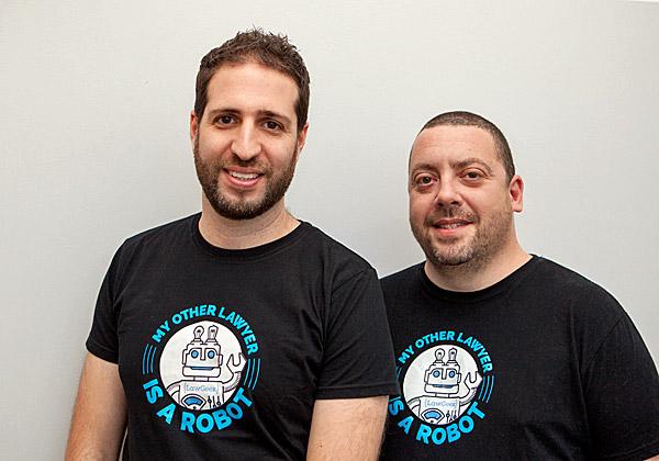 """נורי בכור ואילן אדמון, מייסדי LawGeex. צילום: יח""""צ"""
