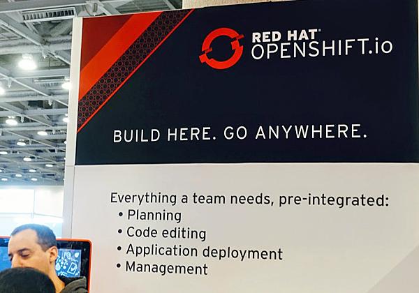 הדגש בכנס השנה היה על Openshift - הפתרון הגמיש של החברה, תחת הסיסמה: בנה במקום אחד. הפעל בכל מקום. צילום: פלי הנמר