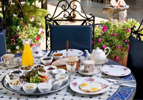 """ארוחת הבוקר במלון """"בית שלום מטולה"""". צילום: בועז לביא"""