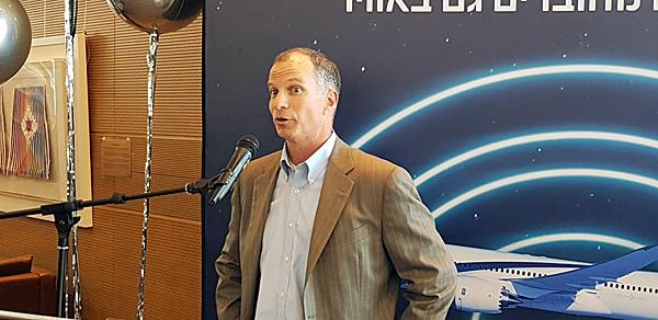 """דון בוכמן, סגן נשיא ומנכ""""ל חטיבת התעופה המסחרית ב-Viasat. צילום: פלי הנמר"""
