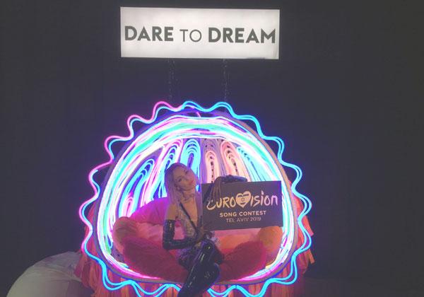 חגיגה של צבעים - ודיגיטל. טאמטה, נציגת קפריסין לאירוויזיון. צילום: כאן דיגיטל